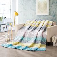 LOVO家纺床上用品夏季空调可水洗被子芯1.5米/1.8米单双人床夏被 四季多彩防螨夏被