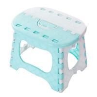 便携式浴室小板凳马扎塑料小凳子迷你家用儿童可折叠凳矮椅子 蓝色 蓝色
