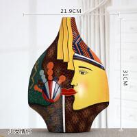 特色家居装饰品工艺品客厅玄关博古架电视柜创意办公陶瓷艺术摆件