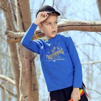 【商场同款4折价:79元】探路者儿童童装 19秋冬户外男童趣味图案长袖T恤QAJH93002