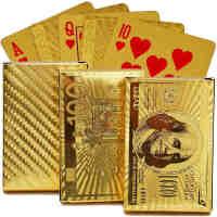 黄金色扑克防水塑料扑克牌 黄金色扑克牌创意