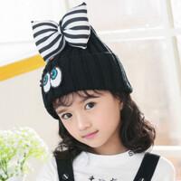 冬季儿童保暖毛线帽子 卡通针织帽女童宝宝套头帽春秋天