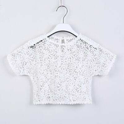 韩版童装女童连衣裙夏装纯棉公主中大童子海边度假沙滩长裙 白色 (蕾丝罩衫) 150cm 发货周期:一般在付款后2-90天左右发货,具体发货时间请以与客服协商的时间为准