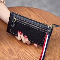新款欧美女士仿钱包女长款拉链男钱夹手拿包软包