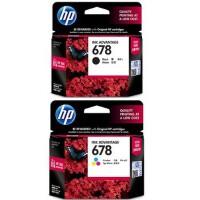 惠普(HP)678 黑彩墨盒套装 (含HP678黑色墨盒1个+HP678彩色墨盒1个) 适用于 HP 2648 3515 1018 2515 2548 3548 1518 2648 4518 4648
