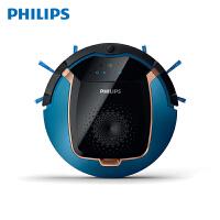 飞利浦 (PHILIPS) 扫地机器人 扫地机拖地机一体机智能家用吸尘器FC8812/82 金属蓝