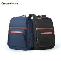 卡拉羊(Carany)男士双肩包学生书包商务电脑包15英寸休闲旅行背包CX5950