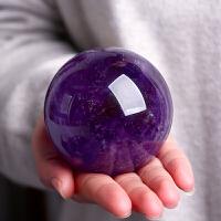 玻璃水晶工艺品摆件天然紫水晶球 居家摆放 风水摆件 聚财 镇宅