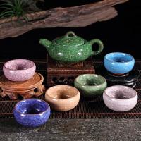 冰裂釉茶具套�b整套功夫茶具泡茶�夭璞�子防�C玻璃家用�k公茶碗茶杯泡茶器茶�靥籽b