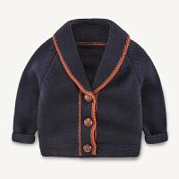 婴儿毛衣开衫外套秋0-1岁女宝宝韩版翻领衣服童装小童针织衫男