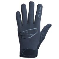 户外秋冬抓绒登山跑步骑行手套男女薄款保暖触屏开车足球运动手套 黑色 QC-01
