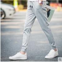 新款男士休闲束裤长裤 学生运动卫裤裤子 青少年韩版时尚针织哈伦裤 男潮