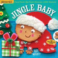 【现货】英文原版 Indestructibles: Jingle Baby 防水无毒可咬婴幼儿玩具书:圣诞宝宝
