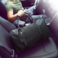 手提男士旅行包商务出差包短途手提包行李包轻便旅游包单肩行李袋 黑色