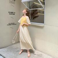 毛菇小象假两件连衣裙女装2019新款夏装学生时尚气质宽松流行裙子