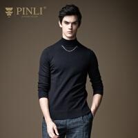 PINLI品立2020秋季新款男装半高领打底针织衫毛衣上衣B203310043