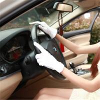 201808220226091952018新款春夏男女棉司机点胶防滑手套薄款开车驾驶防晒手套白色礼仪手套 均码