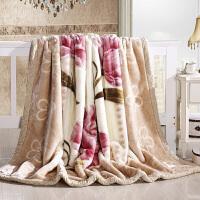 君别家纺毛毯加厚冬季保暖厚盖毯子拉舍儿绒毯子斤斤斤