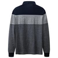 七匹狼长袖T恤男士2020春季新款中年休闲条纹Polo衫男装秋装上衣