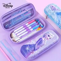 迪士尼笔袋女小学生大容量高颜值铅笔袋儿童幼儿园新款多功能笔盒网红文具袋冰雪公主文具盒
