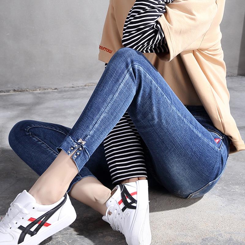 Freefeel 2018春夏季新款小脚牛仔裤女时尚修身韩版弹力显瘦铅笔裤oy8009