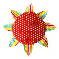 手工布艺儿童安全软飞盘飞碟 幼儿园户外教学布艺飞盘互动玩具