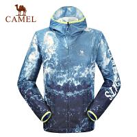 camel骆驼户外运动外套 男士轻盈防风透气跑步外套