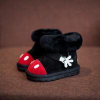 2儿童4女宝雪地靴5男宝靴子1-3岁男童鞋6女童棉靴7女宝宝靴潮