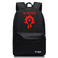 魔兽世界部落联盟双肩包 韩版原宿学生魔兽男女款背包