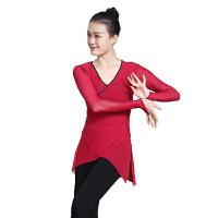 舞蹈服芭蕾舞服女体操网纱上衣民族舞古典舞练功服弹力网纱衣 XX