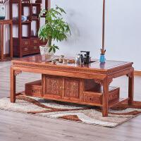 功夫茶几中式原木茶台小户型客厅茶几长方形泡茶桌 整装