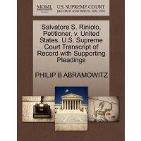 Salvatore S. Riniolo, Petitioner, v. United States. U.S. Su
