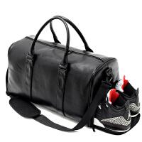 新款手提旅行包男手提包短途出差行李袋大容量行李包健身包女运动 黑色 大