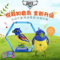银辉知音鸟鸟笼 会唱歌跳舞的智能声控儿童电动仿真小鸟音乐玩具
