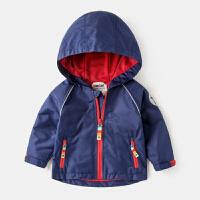 儿童过年外套男童春装2018新款婴儿春秋款小童女童夹克童装冲锋衣