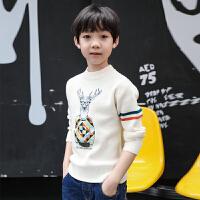 男童毛衣套头全棉2017新儿童毛衣男加绒加厚新款中大童圆领针织衫