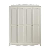 韩式田园二三四门衣柜实木欧式衣柜白色公主组合衣橱木质 4门