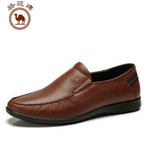 骆驼牌 春季休闲商务皮鞋 轻便套脚流行男鞋子