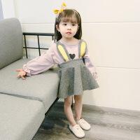 0-1-2-3岁4女宝宝加绒打底裙子女童婴幼儿加绒保暖长袖连衣裙装 粉红色 春秋薄款