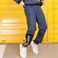 【领卷:79元选3】加菲猫男童针织单长裤男生洋气运动休闲裤子儿童运动裤GPW17373