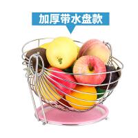 不锈钢水果篮摇摆沥水果盆客厅装饰水果篮子创意圆形水果盘