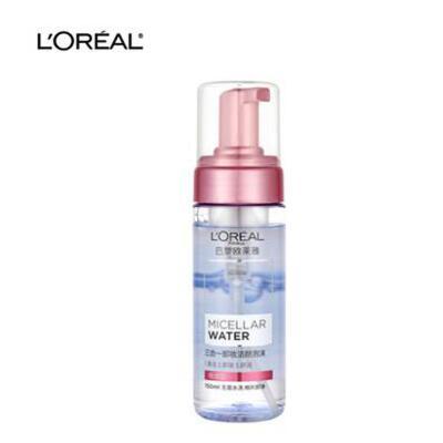 欧莱雅三合一卸妆洁颜泡沫倍润型150毫升 夏季护肤 防晒补水保湿 可支持礼品卡
