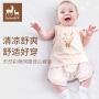 欧孕婴幼儿内衣套装薄款新生儿空调服夏季连体睡衣宝宝空调服夏天