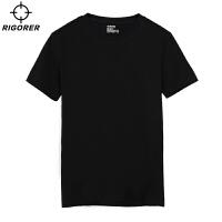 准者运动 棉T恤 光版可DIY印制T恤男女 跑步篮球宽松圆领纯色短袖