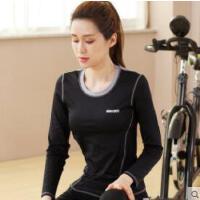 健身房运动跑步专业瑜伽服女上衣秋冬速干T恤显瘦瑜伽长袖