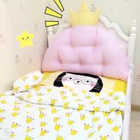 【家装节 夏季狂欢】韩式皇冠公主大靠背 宝宝床靠垫儿童床头软包靠枕可拆洗可爱礼物 纯棉 粉色