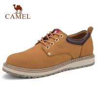 camel骆驼男鞋 秋季新款牛皮磨砂工装鞋潮男马丁鞋时尚休闲男鞋子