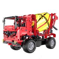 双鹰遥控积木搅拌车咔搭积木电动遥控积木车小颗粒拼装模型C51014
