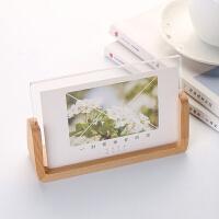 韩式创意木质相框5寸6寸7寸8寸亚克力婚纱照片框榉木U型画框