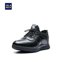 HLA/海澜之家保暖休闲鞋2018冬季新品圆头舒适男鞋